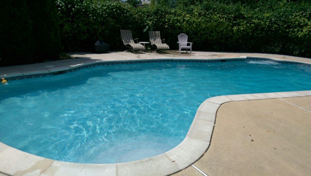 oblong backyard pool
