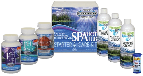 waters choice and natural spa and hot tub enzymes are sold exclusively in the area by Kay Pool and Spa. Order yours today.
